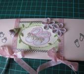 Открытки - Открытка - конверт для денег к рождению девочки