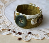Браслеты - Текстильный браслет «Яблочный»
