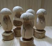 Элементы интерьера - Деревянные грибы