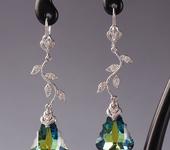 Серьги - Серьги с кристаллами Swarovski