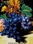 """Другие виды вышивки - Авторская схема для вышивки БИСЕРОМ """" Гроздь винограда"""""""