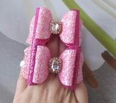 Украшения для волос - Розовые бантики