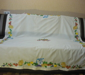 """Скатерти, салфетки - текстильный набор для кухни с вышивкой """"Дачница"""""""