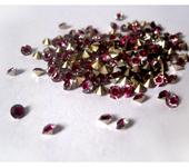 Бисер и бисероплетение - 50шт Стразы 4мм двухцветные клеевые ювелирные стекло кристаллы