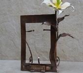 Рамки для фото, картин - Медная рамка для фото с лилией