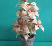Оригинальные подарки - Цветок из дерева