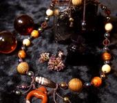 Обереги, талисманы, амулеты - Бусы плетеные с бусиной Дзи и аромакулоном