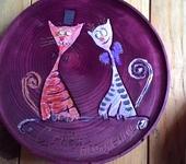 Тарелки - Небольшие деревянные настенные тарелки