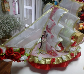 Подарки на свадьбу - корабль в подарок молодоженам