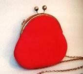 Сумки, рюкзаки - Маленькая кожаная сумочка красная (алая) Ретро