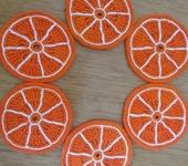 """Предметы для кухни - Подставка под горячее """"Долька апельсина"""""""