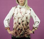 Блузки - Блузка - морская фантазия из итальянского шелка.