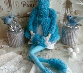 Куклы Тильды - Тильда Зимний Ангел, фигуристка на коньках
