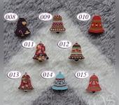 Скрапбукинг - Деревянные пуговицы «Колокольчик», размер 2,5 х 2 см