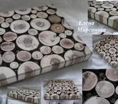 Предметы для кухни - Подставка под горячее из спилов фруктовых деревьев