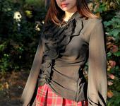 Блузки - Блузка ..Готика..черный шифон с вышивкой