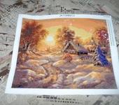 Картины со стразами - Зимний пейзаж