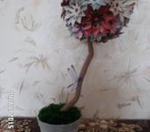 Элементы интерьера - Цветочный топиарий со стрекозой