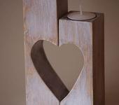 Подсвечники - Деревянный подсвечник ручной работы