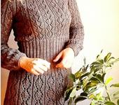 "Платья - Вязаное платье -туника "" Какао """