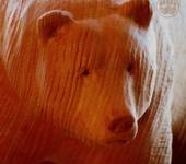 Статуэтки - Медведица из кедра Винтажная Барби