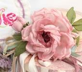 Броши - Брошь роза «Фея». Цветы из ткани