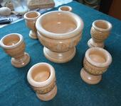 Элементы интерьера - Набор чаш из дерева
