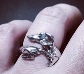 Кольца - Кольцо такса - серебро 925