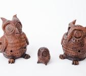 Лепка из глины - Совы -свистульки