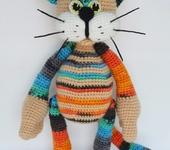 Зверята - Игрушка вязаная крючком кот Филька