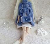Куклы Тильды - Тильда зимний ангел на коньках на заказ