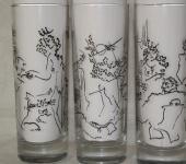 """Бокалы, стаканы, рюмки - Роспись стаканов """"Мастер и Маргарита"""""""