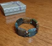 Браслеты - Мужской браслет из природной яшмы