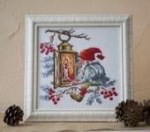 Вышитые картины - Рождественский гном