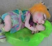 """Другие куклы - Интерьерная кукла """"Спящая Веснушка"""""""