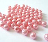 Фурнитура для бижутерии - Жемчуг майорка нежно-розовый