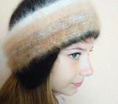 Головные уборы - шапка-боярка  из собачьей шерсти