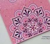 Обложки для паспорта - Обложка на паспорт с мандалами, розовая