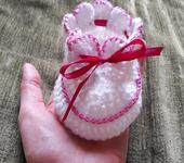 Для новорожденных - пинетки для малышки