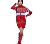 Платья - Вязаное платье-свитер