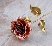 Оригинальные подарки - Кованая роза из меди и латуни