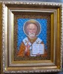 Вышитые картины - Икона Николая Угодника