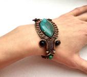 Браслеты - Авторский браслет из агата и нефрита Майя