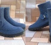Обувь ручной работы - Вязаные ботинки