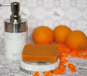 Мыло ручной работы - Апельсиново-облепиховое мыло