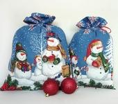 Оригинальные подарки - Мешочек для подарка Снеговики