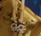 Свадебные аксессуары - Декор свечей