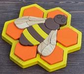 Развивающие игрушки - Пазл в рамке «Пчёлка»