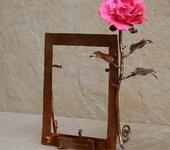 Рамки для фото, картин - Медная рамка для фото с розой