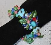 Комплекты украшений - Браслет лэмпворк цветочный Летний сад